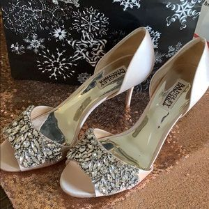 New Badgley Mischka Jeweled Heels